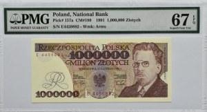Polska, III RP, 1 000000 złotych 1991, seria E, Warszawa, PMG 67 EPQ