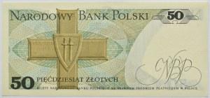 Polska, PRL, 50 złotych 1975, seria A - pierwsza seria, Warszawa, UNC