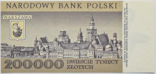 Polska, III RP, 200000 złotych 1989, seria K, Warszawa, UNC