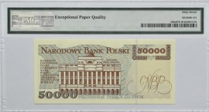 Polska, III RP, 50000 złotych 1993, seria P, Warszawa, PMG 67 EPQ