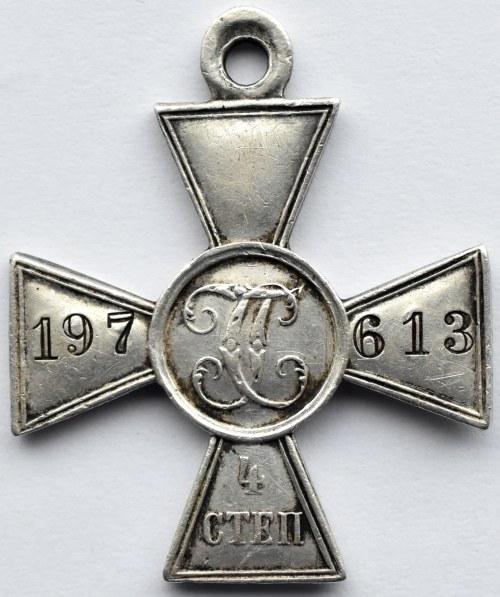 Rosja, Mikołaj II, Krzyż św. Jerzego, stopień IV, numerowany 197613
