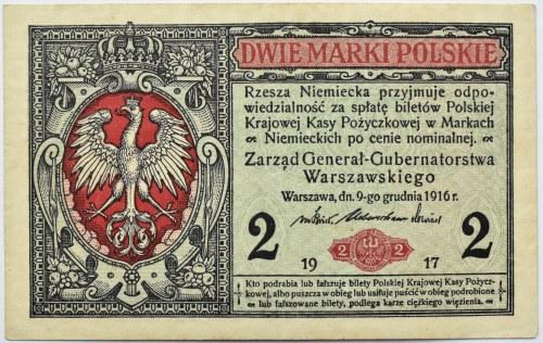 Polska, II RP, 2 marki 1916 Generał seria B