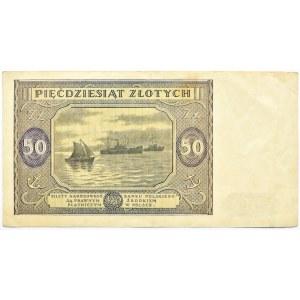 Polska, RP, 50 złotych 1946, seria N, ładne
