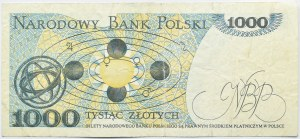 Polska, PRL, 1000 złotych 1982, seria GE, destrukt bez nadruku głównego