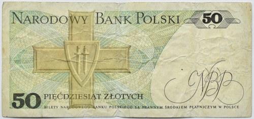 Polska, PRL, 50 złotych 1986, seria EN, destrukt bez nadruku głównego