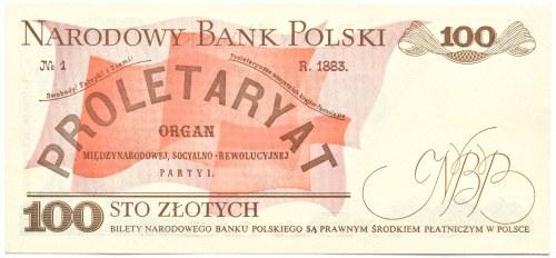 Polska, PRL, 100 złotych 1988, seria NM, destrukt przesunięta numeracja i data