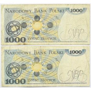 Polska, PRL, lot 1000 złotych 1982, seria GC/GU, destrukty