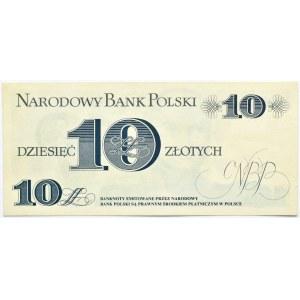 Polska, PRL, J. Bem, 10 złotych 1982, seria C, destrukt brak nadruku głównego