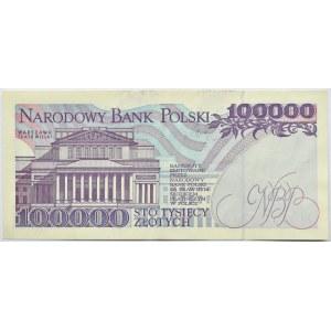 Polska, III RP, 100000 złotych 1993, seria AA, Warszawa, UNC