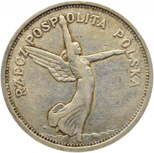 Polska, II RP, 5 złotych 1928 Nike, Warszawa, odmiana ze znakiem mennicy