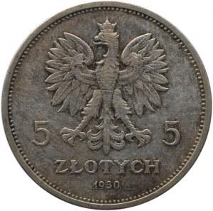 Polska, II RP, 5 złotych 1930, Sztandar, Warszawa