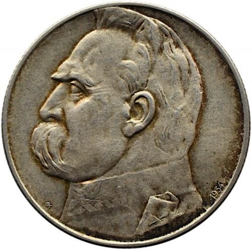 Polska, II RP, Józef Piłsudski, 5 złotych 1934 orzeł strzelecki, Warszawa, UNC