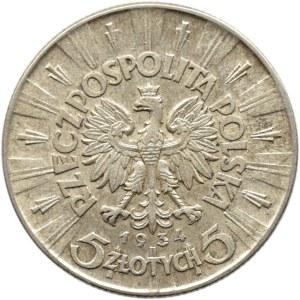 Polska, II RP, Józef Piłsudski, 5 złotych 1934, Warszawa