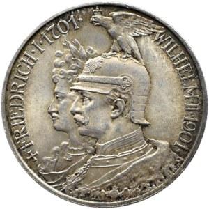 Niemcy, Prusy, Wilhelm II, 2 marki 1901 A, Berlin, UNC