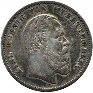 Niemcy, Badenia, Fryderyk, 5 marek 1876 G, Karlsruhe