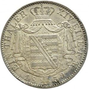 Niemcy, Saksonia, Johann, talar 1853 F, Stuttgart, rzadki