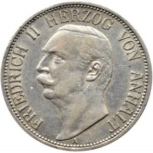 Niemcy, Anhalt, Fryderyk II, 3 marki 1911 A, Berlin