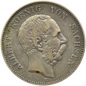 Niemcy, Saksonia, Albert, 2 marki 1901 E, Muldenhütten