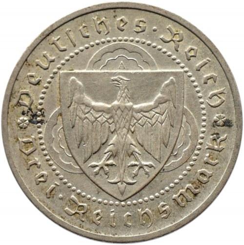 Niemcy, Republika Weimarska, 3 marki 1930 A, Berlin, Vogelweide