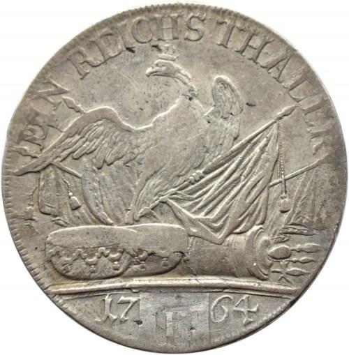 Niemcy, Prusy, Fryderyk, 1 talar 1764 F, Magdeburg, rzadki