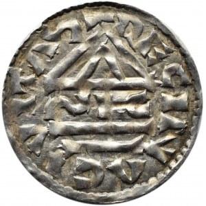 Niemcy, Henryk II, denar (985-995), mincerz Sigu, Ratyzbona
