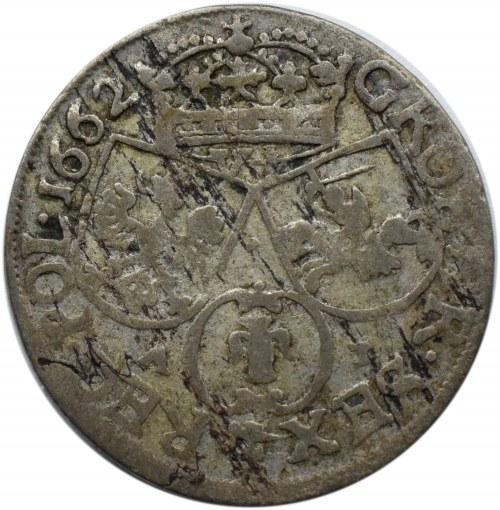 Jan II Kazimierz, szóstak 1662 AT, Bydgoszcz, odmiana bez obwódek