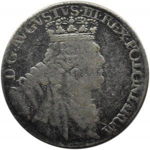 August III Sas, ort (18 groszy) 1754 E.C., Lipsk
