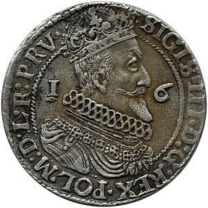 Zygmunt III Waza, ort 1624, przebitka 3/4, Gdańsk, .....PRV.