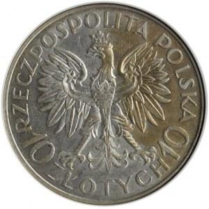 Polska, II RP, Romuald Traugutt, 10 złotych 1933, Warszawa, GCN MS63