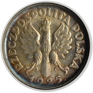 Polska, II RP, Kłosy, 1 złoty 1925, Londyn, GCN MS63
