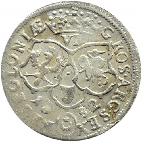Jan III Sobieski, szóstak 1682, Bydgoszcz, duża 2 w dacie, 8 klejnotów w koronie