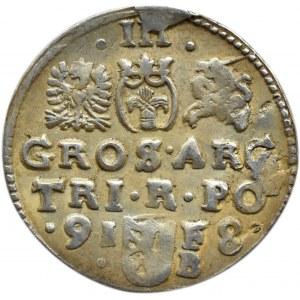 Zygmunt III Waza, trojak 1598, Bydgoszcz (R2)