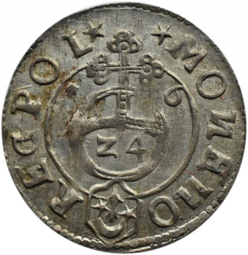 Zygmunt III Waza, półtorak 1616, Bydgoszcz, herb SAS, odwrócone litery N