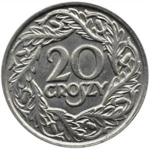 Polska, II RP, 20 groszy 1923, Warszawa, głębokie bicie