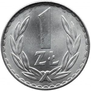 Polska, PRL, 1 złoty 1975 bez znaku, UNC