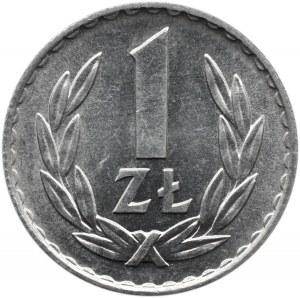 Polska, PRL, 1 złoty 1975 ze znakiem, Warszawa