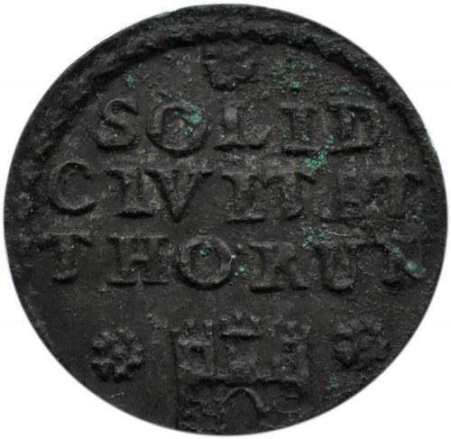 August III Sas, szeląg 1760, Toruń, ładny