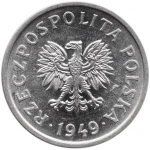 Polska, RP, 10 groszy 1949, Warszawa, UNC-