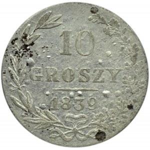Mikołaj I, 10 groszy 1839 MW, Warszawa, niski nakład