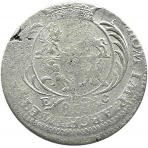 August III Sas, dwuzłotówka (8 groszy) 1753 E.C., Lipsk