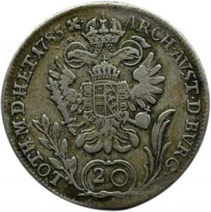 Austria, Józef II, 20 Krajcarów 1785 B, Kremnica