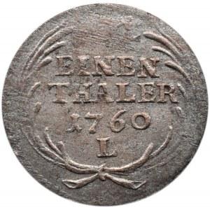 August III Sas, 1/24 talara 1760 L, Lipsk - RZADKOŚĆ brak liter mincerza, NIENOTOWANY