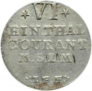 Niemcy, Meklemburgia-Strelitz, Adolf Fryderyk IV, 1/6 talara 1760,