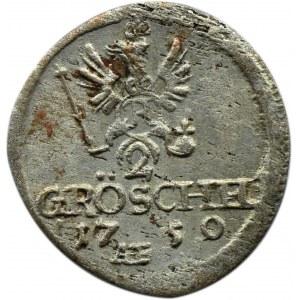 Śląsk, Fryderyk II, 2 gröschel 1750 AE, Wrocław