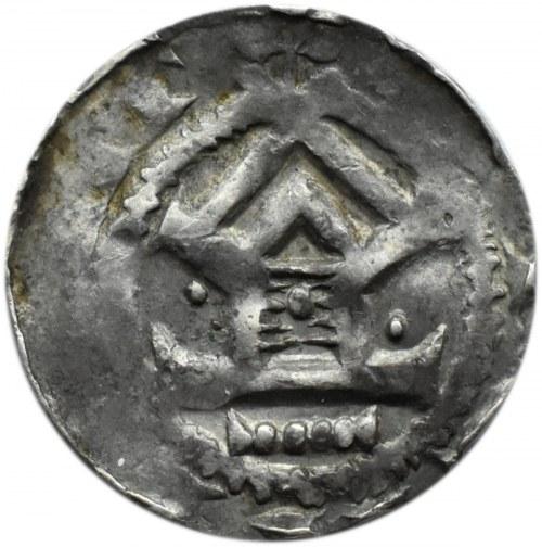 Niemcy, Otto III (983-1002),denar typu OAP, kapliczka