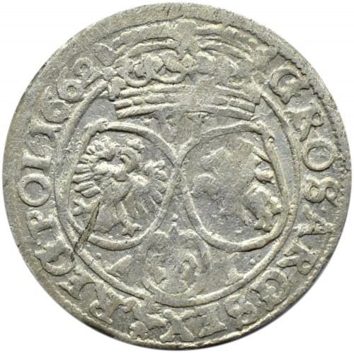 Jan II Kazimierz, szóstak 1662 AT, Bydgoszcz, NIENOTOWANY - IOAN CAS... SMDLR.