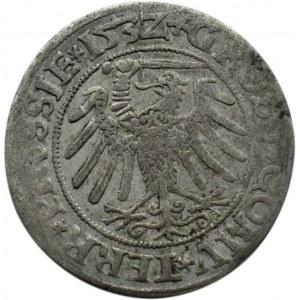 Zygmunt I Stary, grosz pruski 1532, Toruń, PRUS/PRUSSIE
