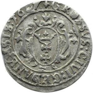Zygmunt III Waza, grosz 1627, Gdańsk, PR