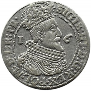 Zygmunt III Waza, ort 1624, przebitka 3/4, Gdańsk, .....PR.