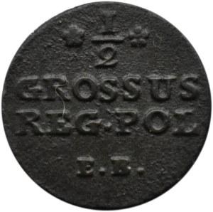 Stanisław A. Poniatowski, 1/2 grosza 1780 E.B., Warszawa, bardzo rzadki